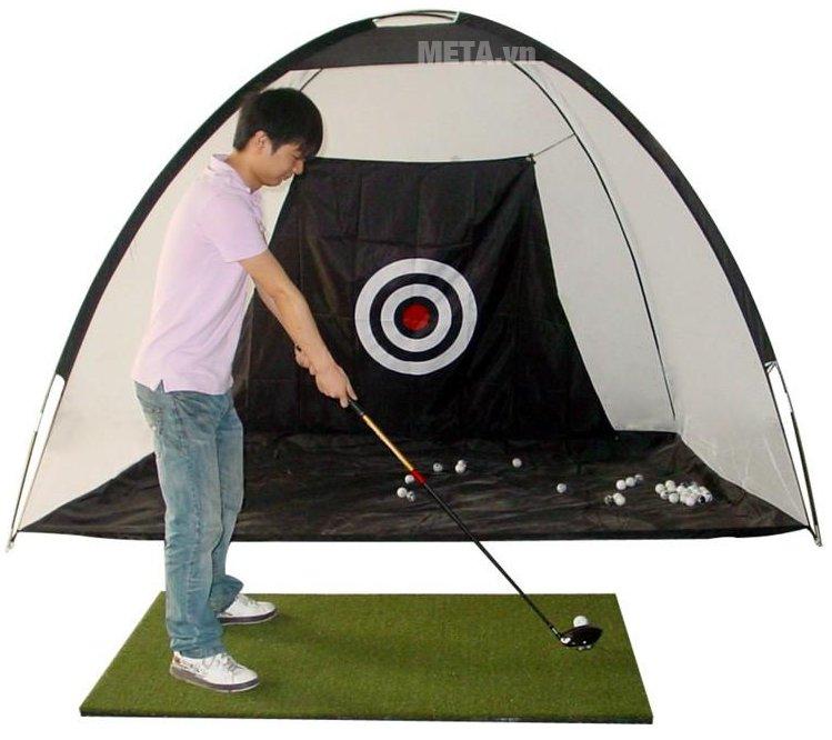 Bộ lưới tập Golf di động 2m x 1.4m được làm bằng chất liệu Polyester và Nylon cao cấp