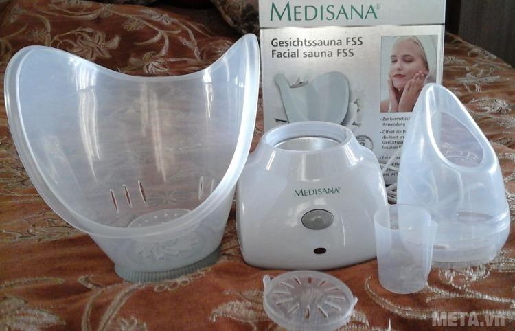 Máy xông mặt Medisana FSS với bộ hoàn chỉnh.