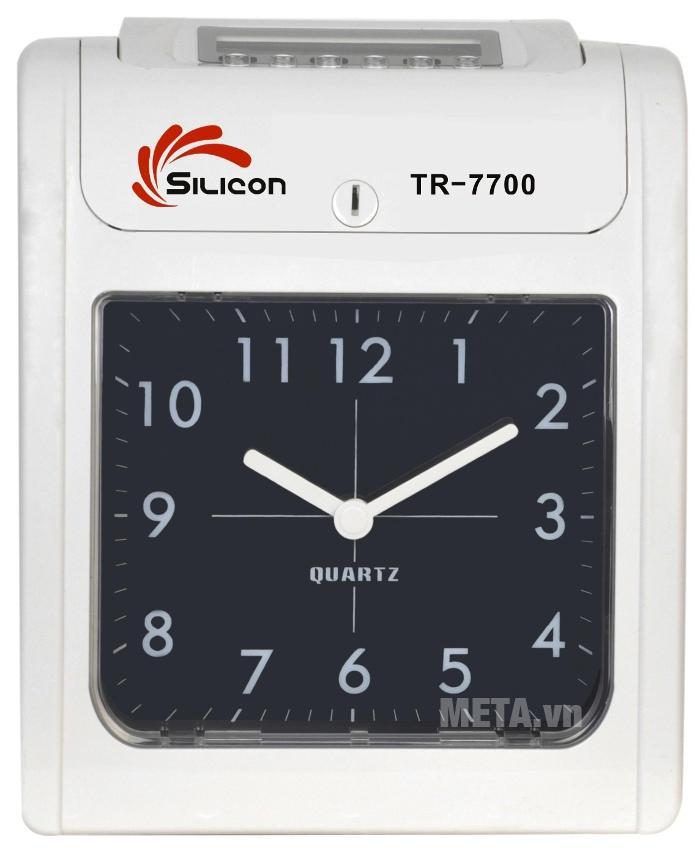 Máy chấm công thẻ giấy Silicon TR-7700 giúp chấm công nhanh và chính xác.