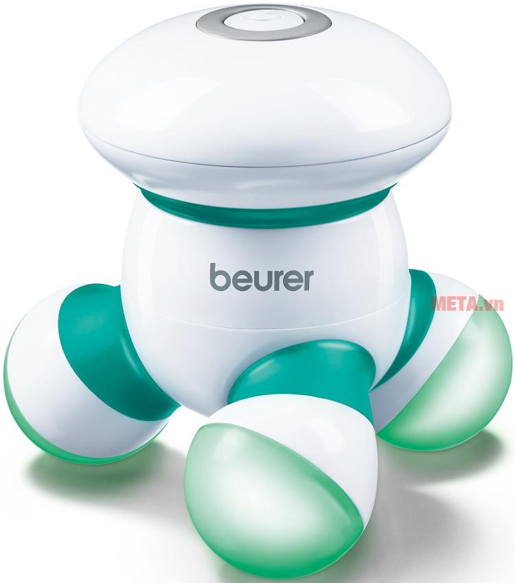 Máy massage cầm tay Beurer MG16 với thiết kế màu xanh.