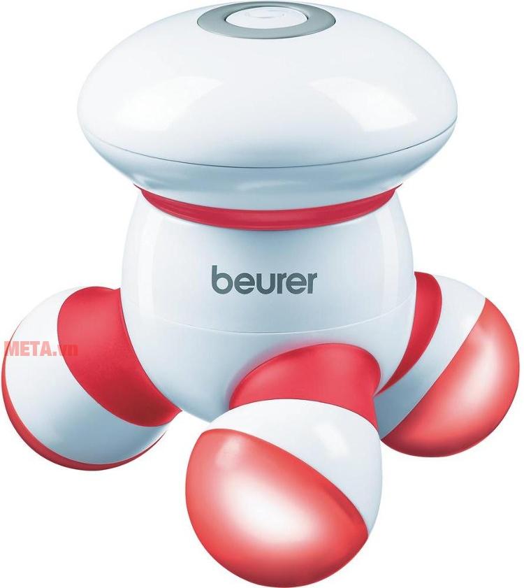 Máy massage cầm tay Beurer MG16 với thiết kế màu đỏ.