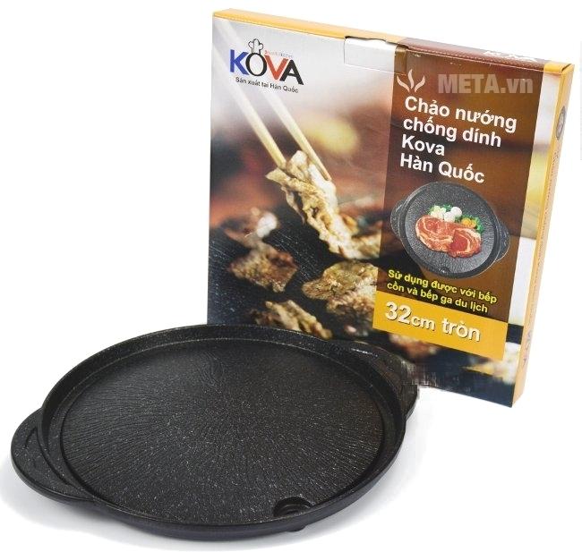 Chảo nướng chống dính Kova tròn HGR nhập khẩu từ Hàn Quốc.