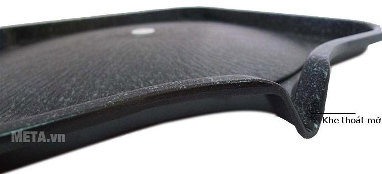 Khe thoát mỡ của chảo nướng chống dính Kova HGS