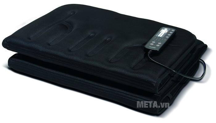 Đệm massage toàn thân Lanaform LA110315 dễ dàng gập gọn để cất giữ.