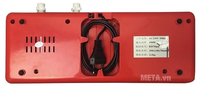 Máy hút chân không DZ300B thiết kế chỗ để dây điện gọn gàng.