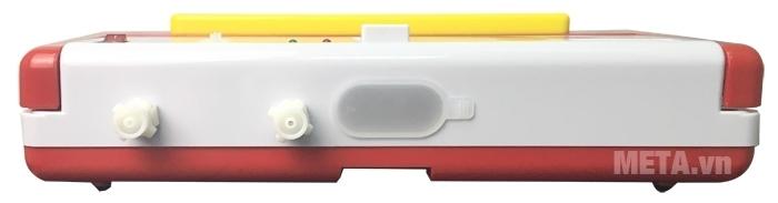 Máy hút chân không DZ300B màu trắng đỏ sang trọng.