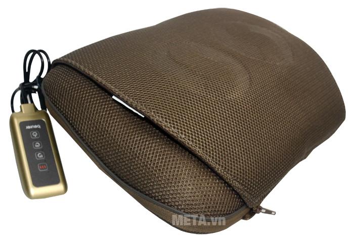 Gối massage có đèn hồng ngoại Beurer MG147 có thể sử dụng tại nhà hay văn phòng làm việc.