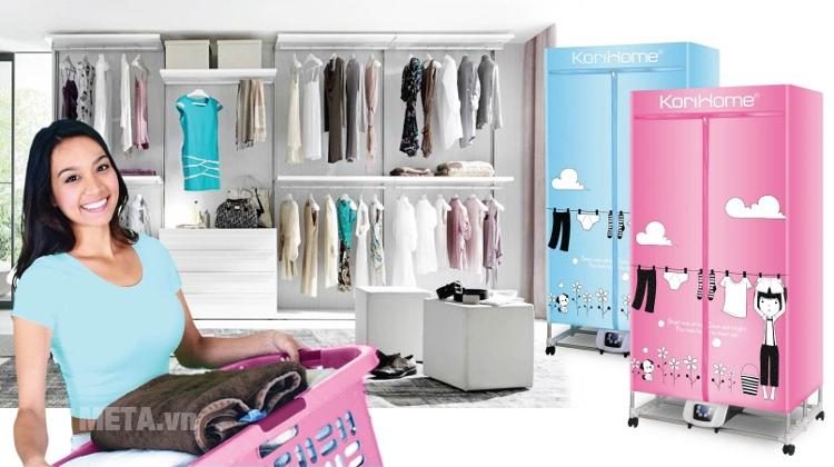 Máy sấy quần áo KoriHome CDK236 sấy được khoảng 17 - 20 bộ quần áo.