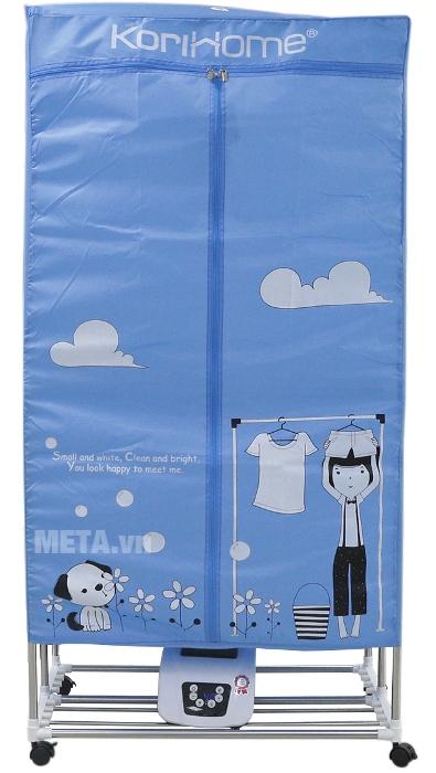Máy sấy quần áo KoriHome CDK236 có màu xanh trang nhã.