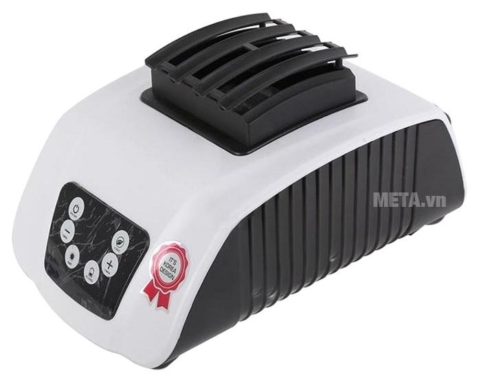 Máy sấy quần áo KoriHome CDK236 có thể điều khiển bằng tay trên bộ phận phát nhiệt.