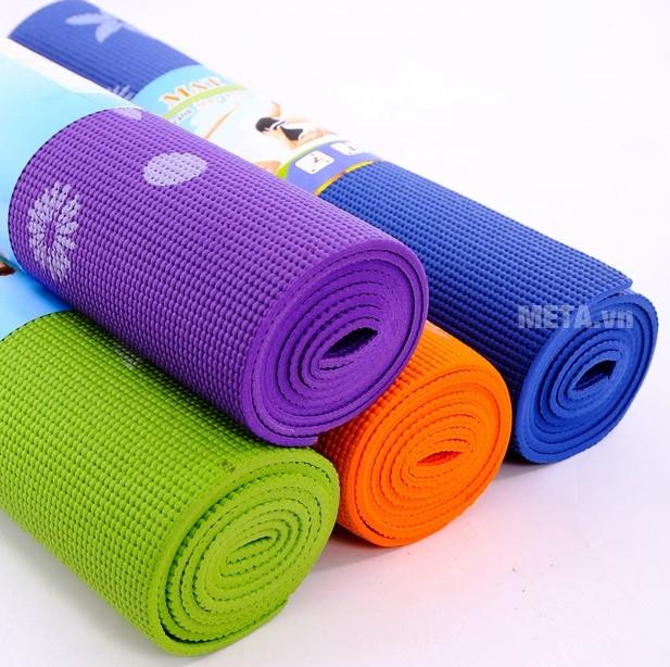 Thảm Yoga hoa WP2  êm ái, độ đàn hồi cao