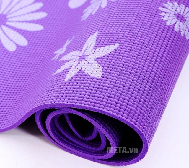 Thảm Yoga hoa WP2 với gam màu tím sang trọng.