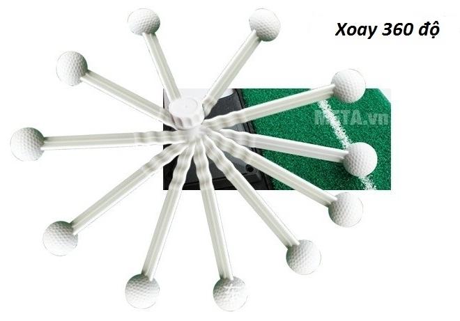 Cần quay của thảm tập Golf Swing Mat có thể xoay 360o