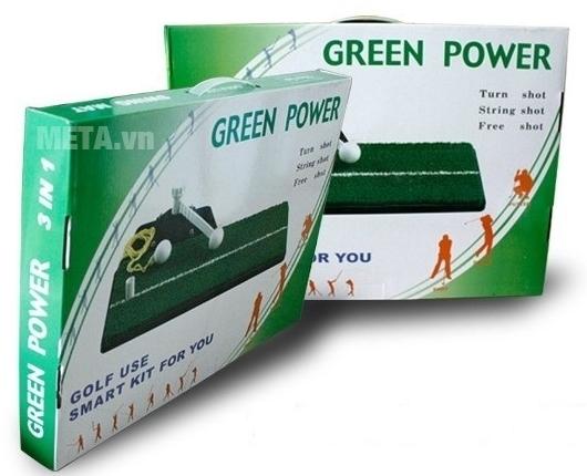 Thảm tập Golf Swing Mat có hộp đựng giúp bạn cất giữ hay mang theo dễ dàng.