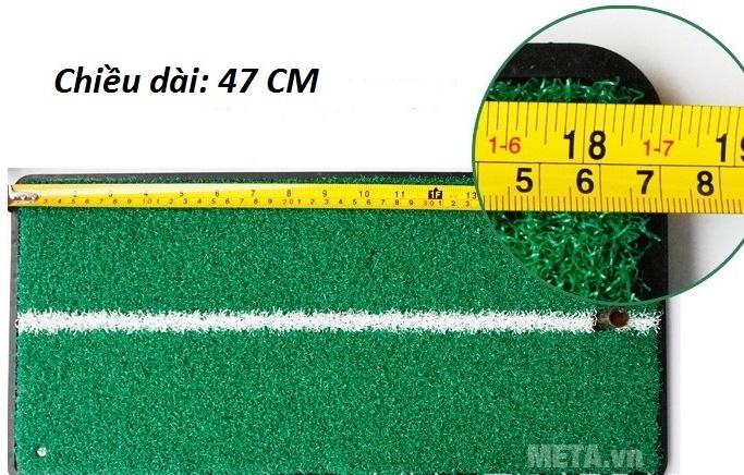 Thảm tập Golf Swing Mat có chiều dài 27cm