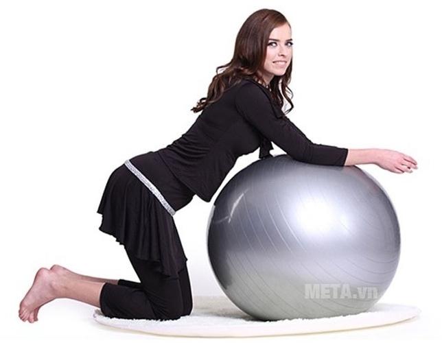 Bóng tập Yoga cao cấp trơn màu bạc