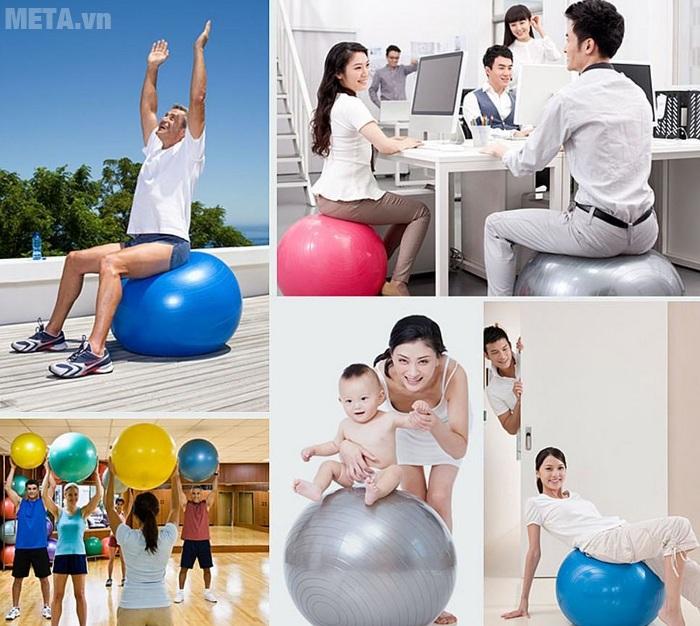 Bóng tập Yoga cao cấp trơn có thể dùng làm ghế ngồi cho người lớn và trẻ em.Bóng tập Yoga cao cấp trơn có thể dùng làm ghế ngồi cho người lớn và trẻ em.