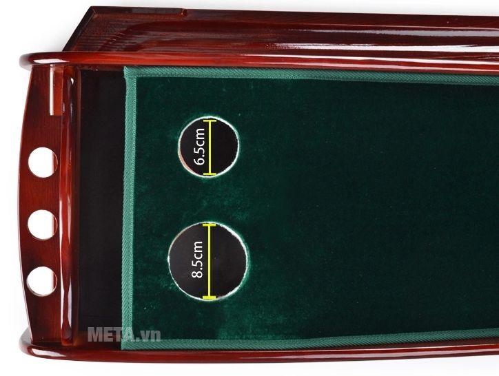 Thảm tập golf putting PGM TL-003 có đường kính lỗ 8.5cm và 6.5cm