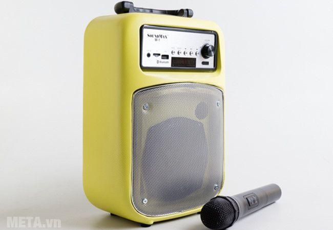 Loa SoundMax M-1 đi kèm micro không dây