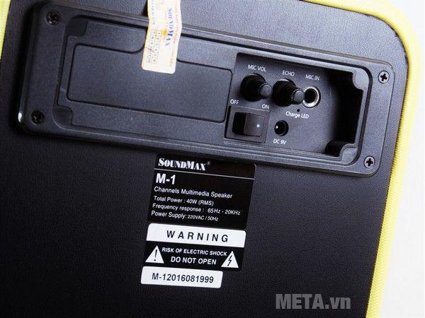 Nút chức năng chơi nhạc và LCD có jack micro 6mm