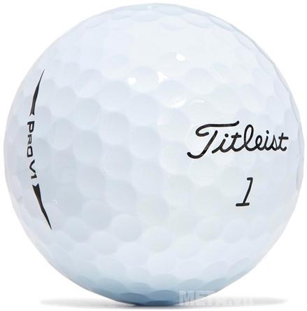 Bóng golf Titleist Pro V1 (New 2017) với thiết kế màu trắng truyền thống.