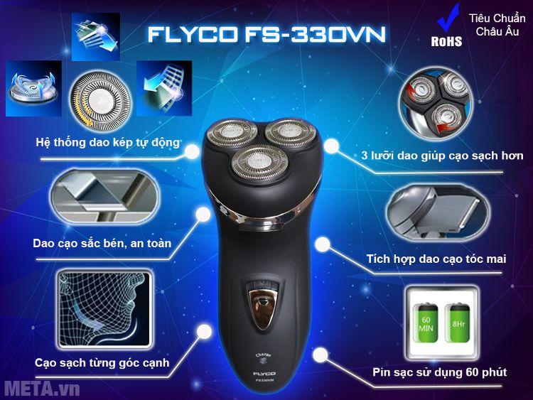 Các tính năng nổi bật của máy cạo râu Flyco FS-330VN