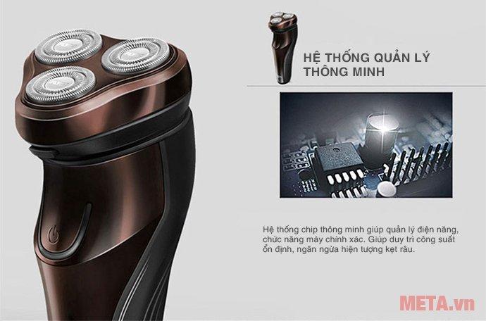 Máy cạo râu Flyco FS-371VN có công suất ổn định, ngăn ngừa hiện tượng kẹt râu