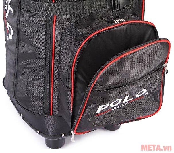 Túi golf hàng không Polo có 2 ngăn phụ phía trước