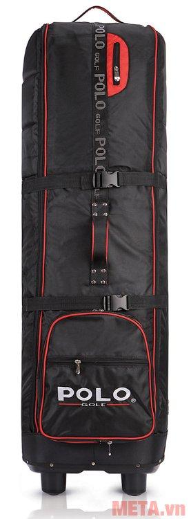 Túi golf hàng không Polo có dây chằng chắc chắn, giúp giữ chặt gậy bên trong
