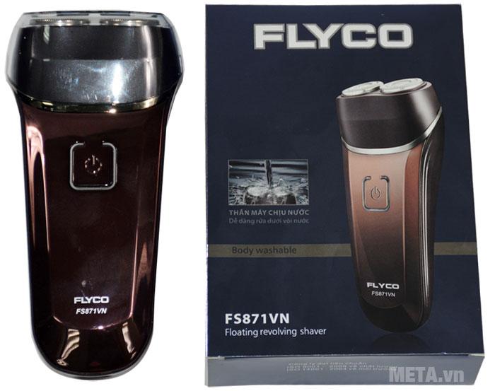 Máy cạo râu Flyco FS 871 dễ dàng rửa dưới vòi nước